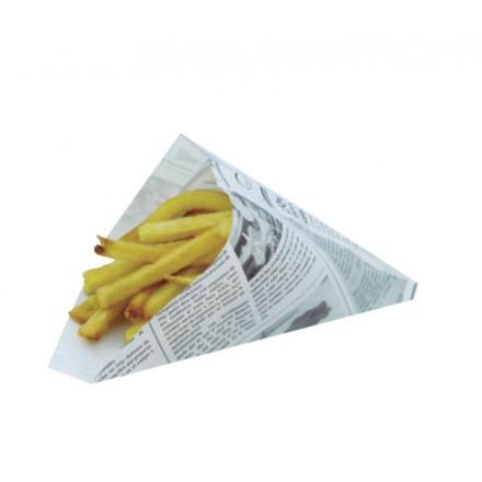 Cono Papel Parafinado Impreso Periódico