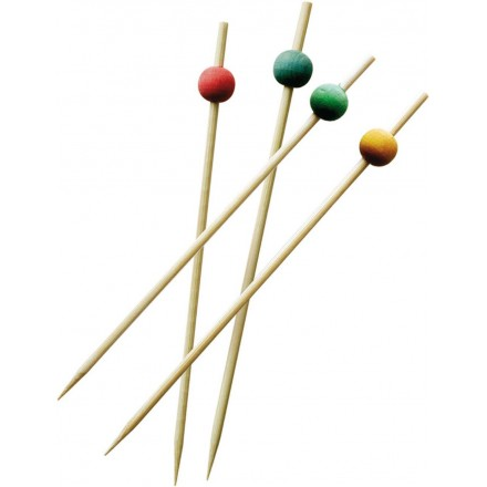 Brochetas bolas de 4 colores 15 cm (200 Uds)