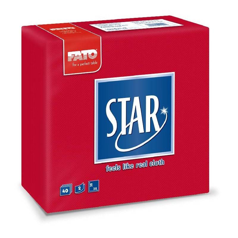 Servilleta Star Punta-Punta 38x38 Rojo