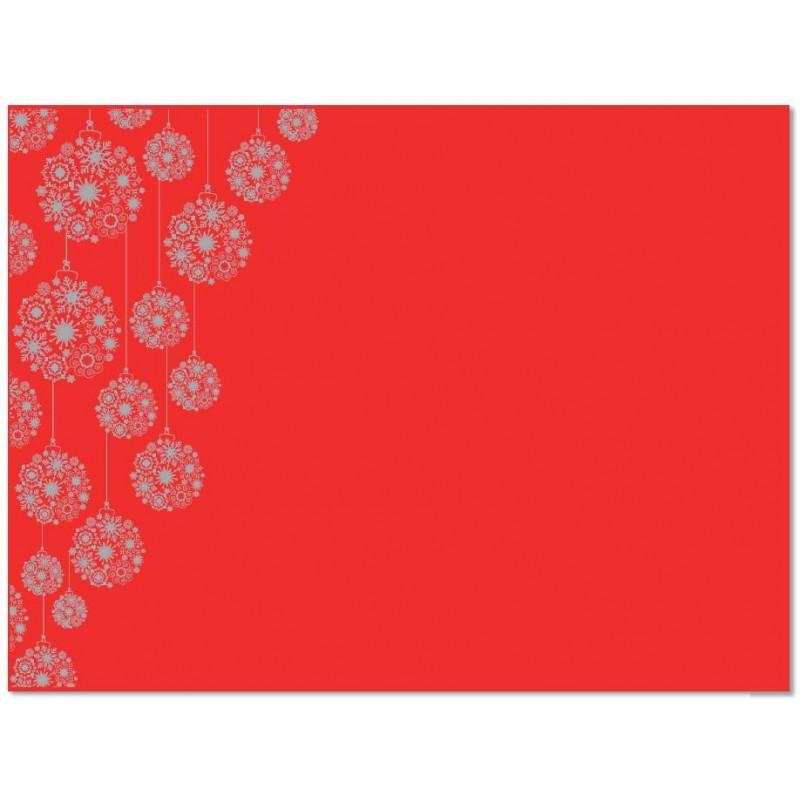 Mantel Individual de Navidad Rojo 30x40 cm (150 Uds)