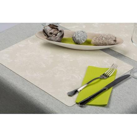 Mantel Individual 30x43 cm Antimancha (12 Uds) Tourmaline Blanco