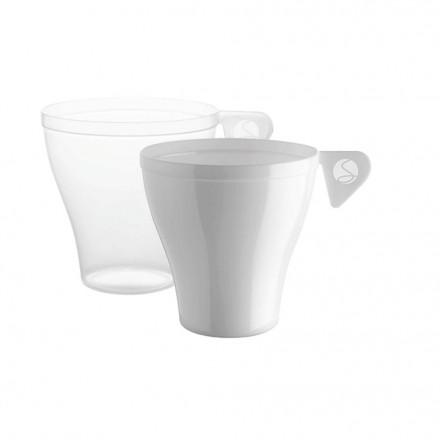 Taza Café Blanca y Transparente PS 90 cc (48 Uds)