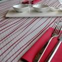 Mantel Rayas burdeos 100x100 cm (400 uds)