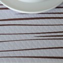 Mantel Rayas marrón 100x100 cm (400 uds)