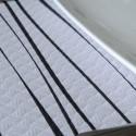 Mantel Rayas Negro 100x100 cm (400 uds)