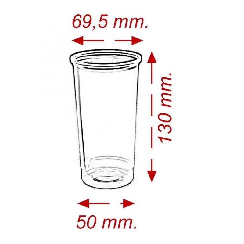 Vaso de Tubo 330 cc PP (30 Uds)