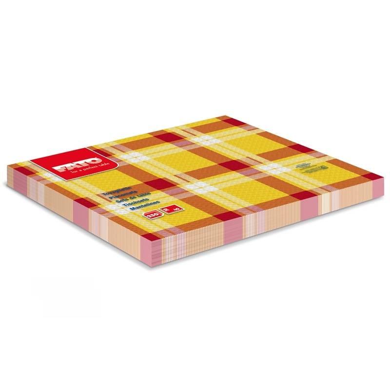 Mantel Individual 30x40 Escoces amarillo
