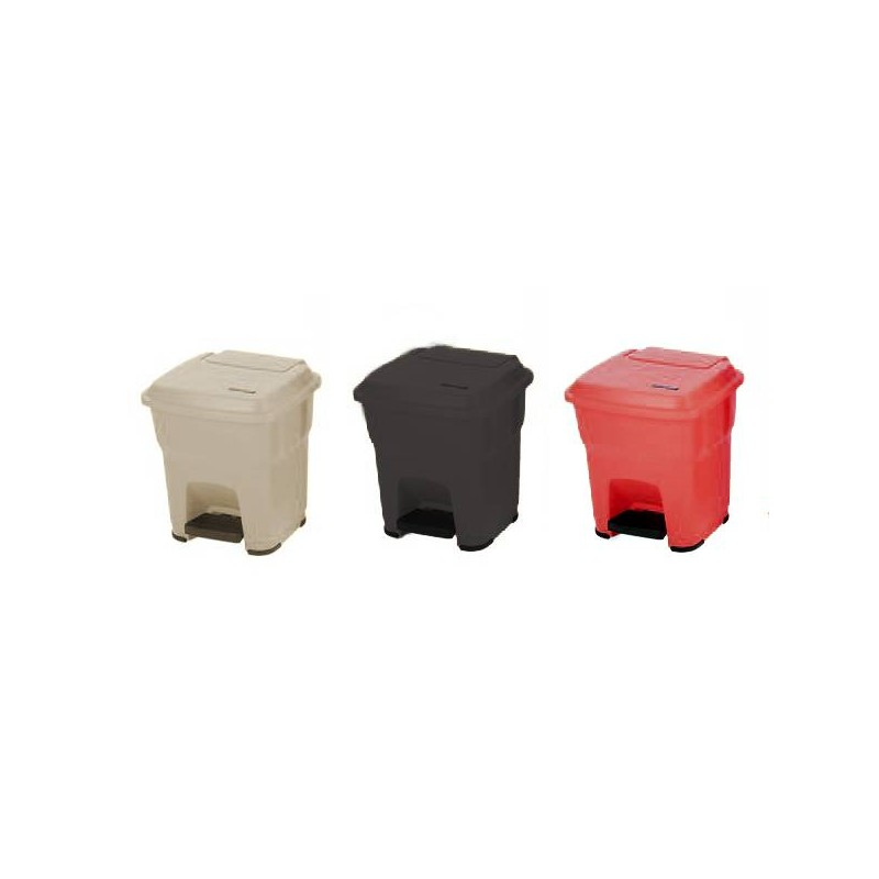 Cubos de 35 litros beige negro o rojo