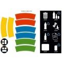 Pegatinas para cubos de reciclaje
