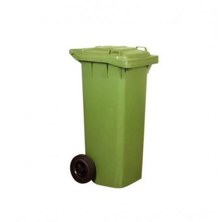 Contenedor verde con ruedas