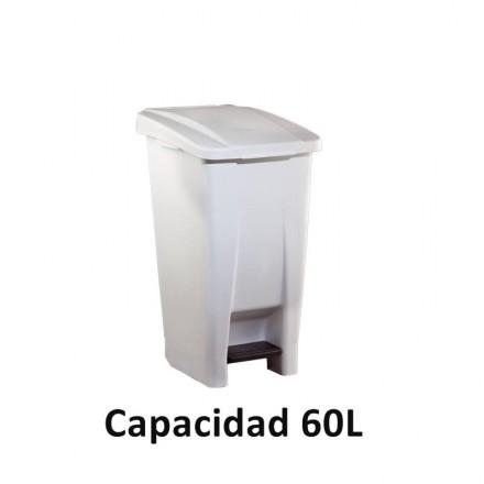 Contenedor selectivo blanco 60 L