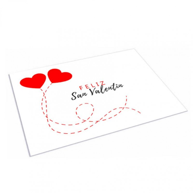 Mantel Individual 30x40 San Valentin Blanco
