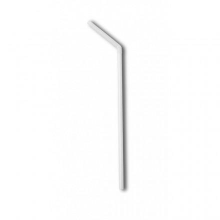 Pajita Flexible Blanca Ecológica de 21 cm Enfundada (250 Uds)