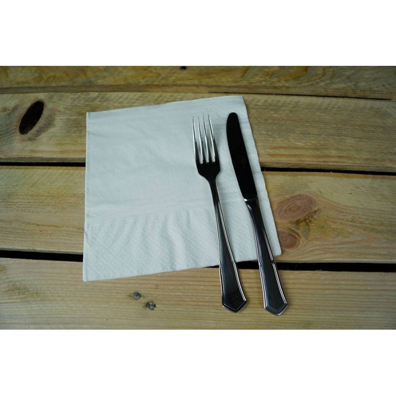 Servilleta blanca con cenefa de 40x40 cm (100 Uds)