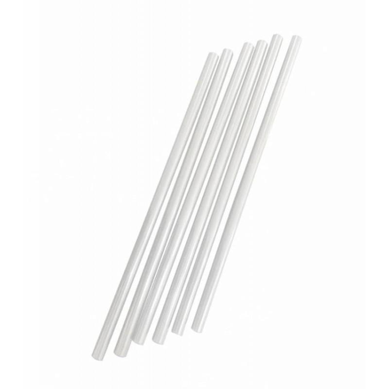 Caña biodegradable blanca de 21 cm (500 Uds)