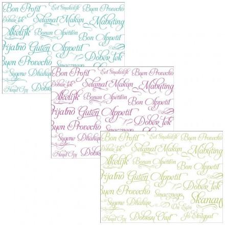 Mantel Individual Buen Provecho 30x40 cm Colores (500 Uds)