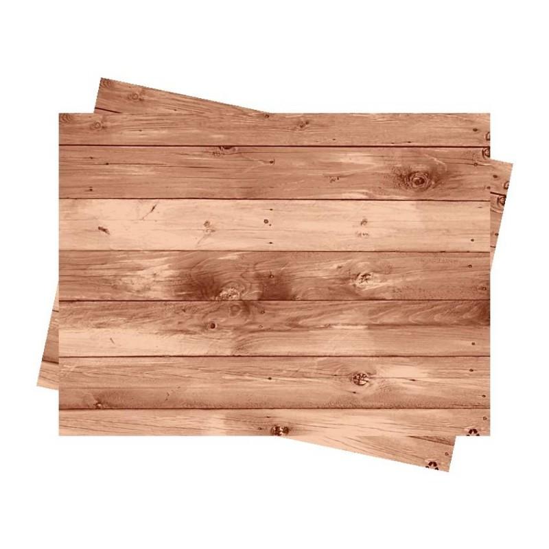 Mantel individual 30x40 cm Madera Ecológico (500 Uds)