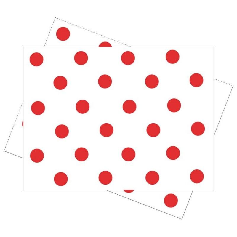Mantel individual Feria Abril Rojo (100 Uds)