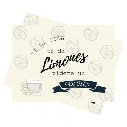 Mantel Si la vida te da limones blanco (100 Uds)