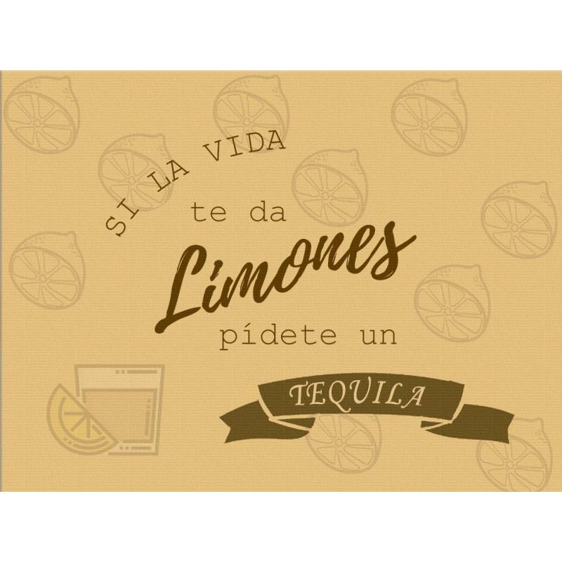 Mantel Si la vida te da limones kraft (100 Uds)