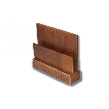 Peana de madera para cartas menú