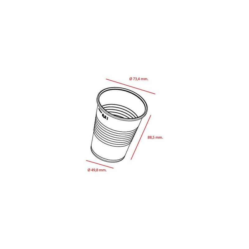 Vaso de Plástico Transparente 220 cc Base Ancha