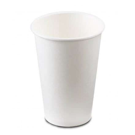 Vaso de cartón blanco 500 cc 16 oz (50 uds)