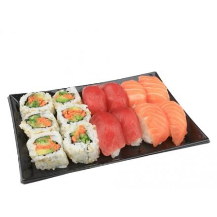 Bandeja Sushi Negra 12X16...