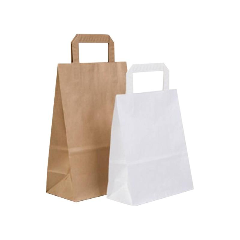 Bolsa papel color: Kraft y Blanco