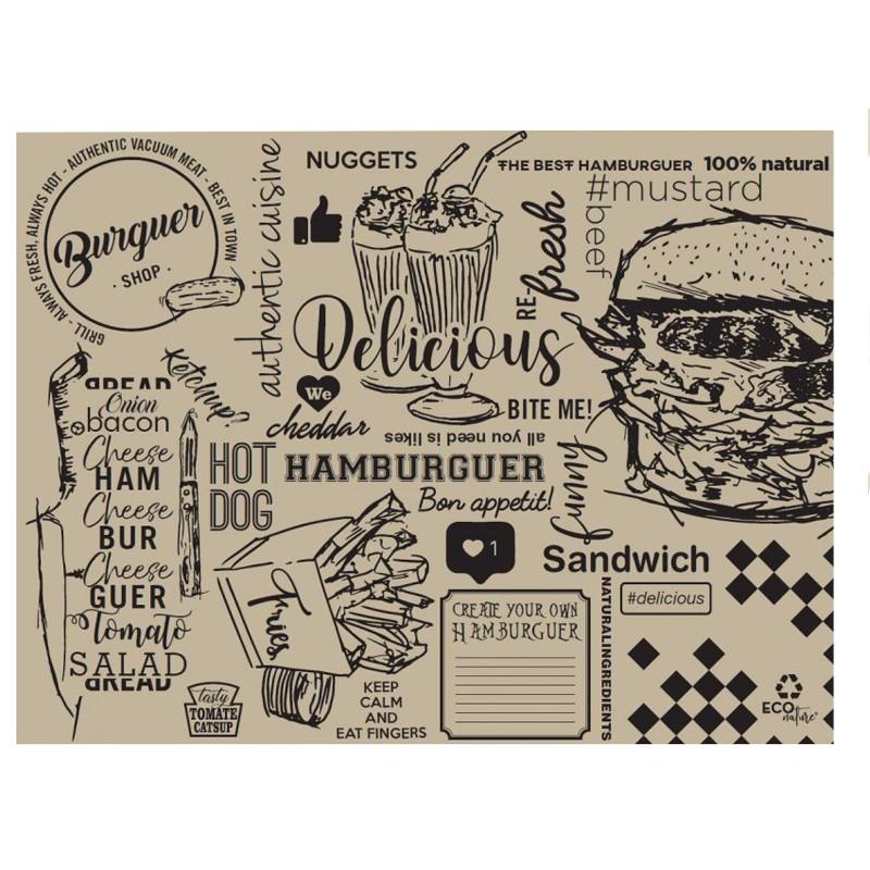 Mantel individual burger ecologico (500 Uds)