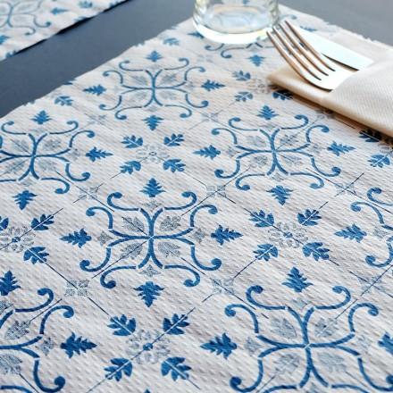 Mantel Individual 30x40 cm Gama Claudia (400 Uds) Azul