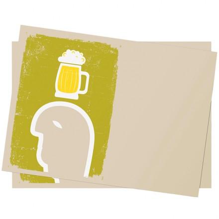Mantel individual 30x40 cm Cerveza (250 Uds)