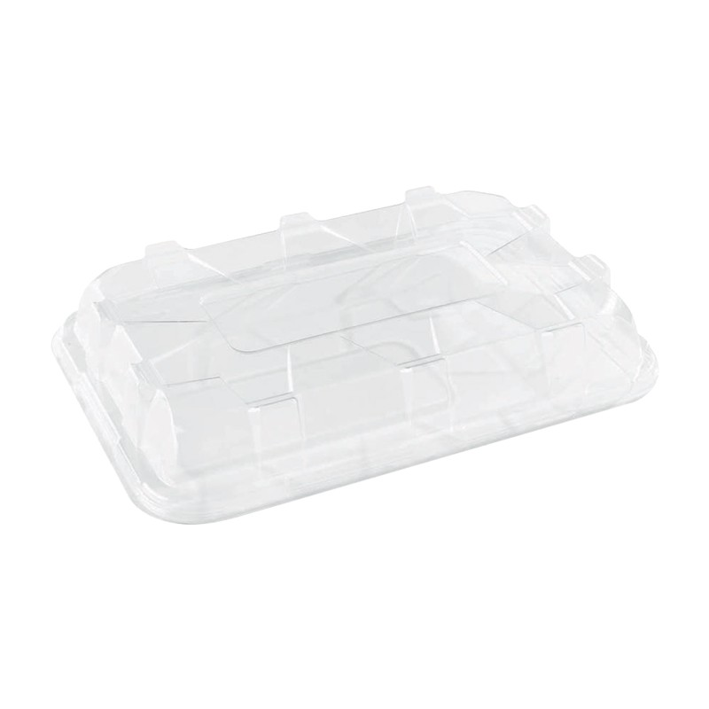 Tapa Eco para bandeja plana grande 46x30 cm (25 Uds)