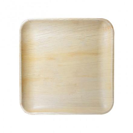 Mini plato de hoja de palma 11x11 cm (10 Uds)