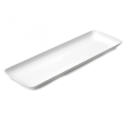 Mini bandeja aperitivo 19 x 6,5 cm. Blanca