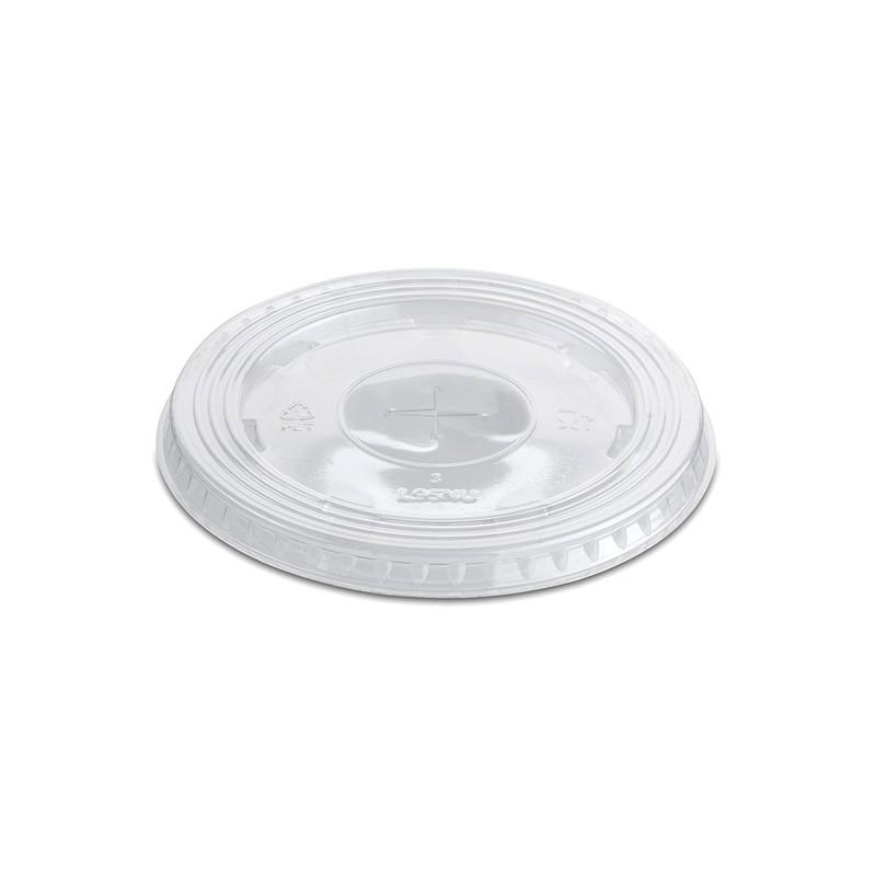Tapa vaso plana con cruz PET