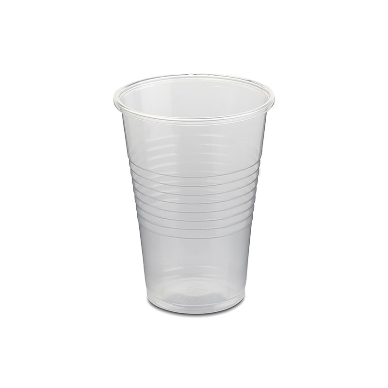 Vaso de Plástico Transparente 220cc.