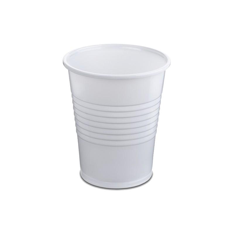 Vaso de Plástico 240 cc Blanco Base Ancha