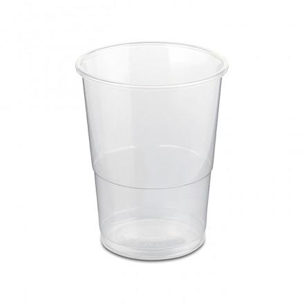 Vaso de plástico transparente base ancha 250 cc