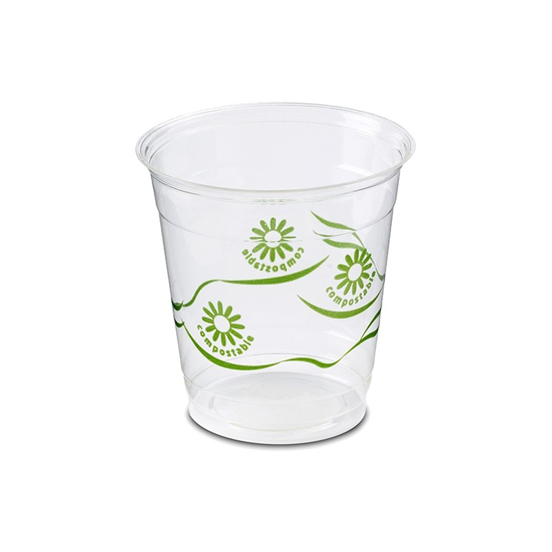 Vaso Compostable PLA de 250 cc (50 Uds)