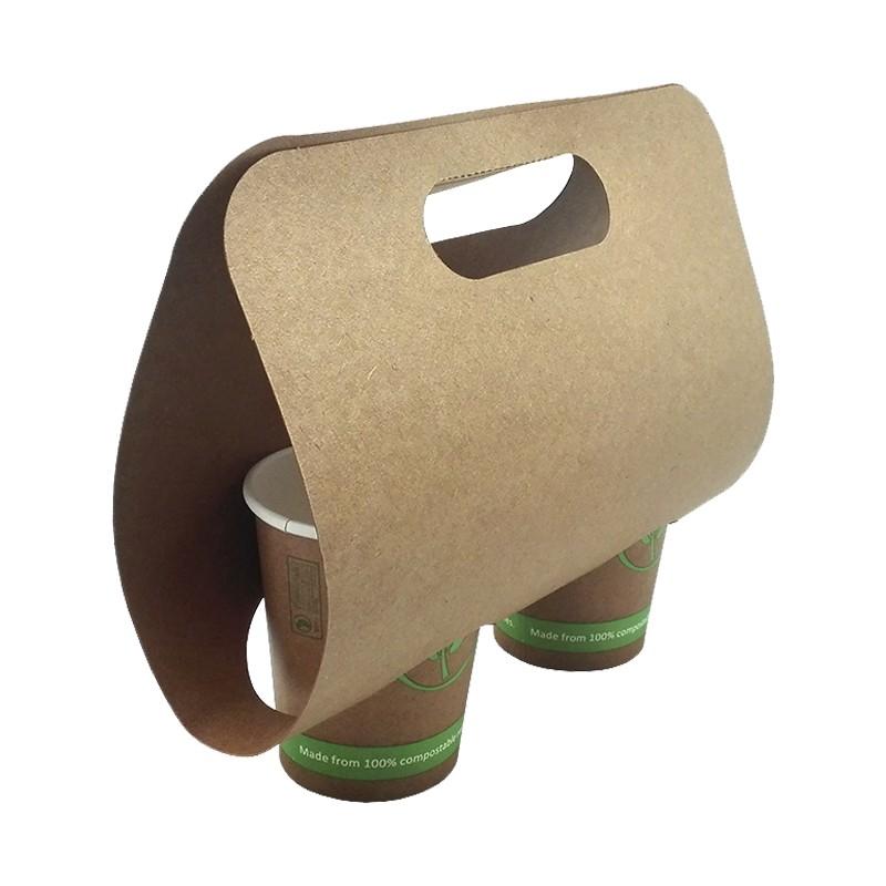 Portavasos de cartón 2 cavidades (400 Uds)