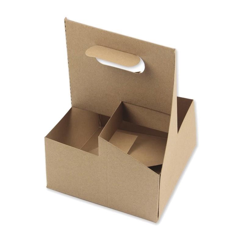 Portavasos de cartón para 4 vasos (100 Uds)
