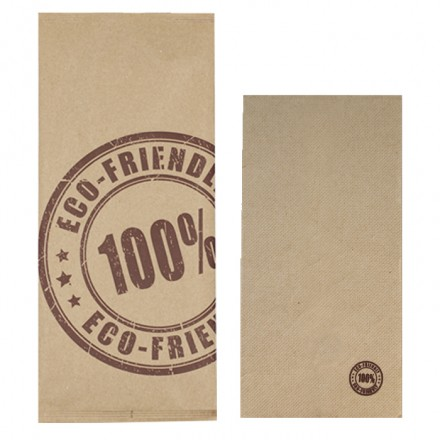 Sobre para cubiertos kraft '100% ECO'