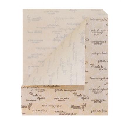Bolsa papel antigrasa kraft