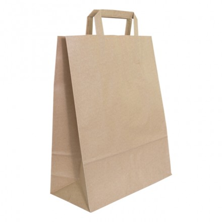 Bolsa papel color kraft para take away y delivery (250 uds)