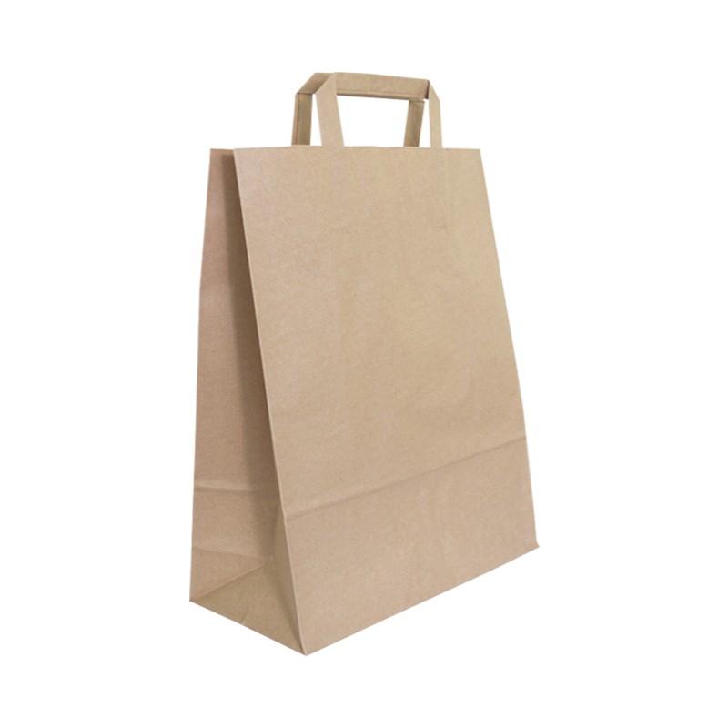 Bolsa papel color kraft para take away y delivery (250 uds)