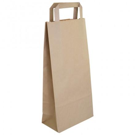 Bolsa Papel Kraft con Asa para Vino 18x9x37 cm (250 uds)
