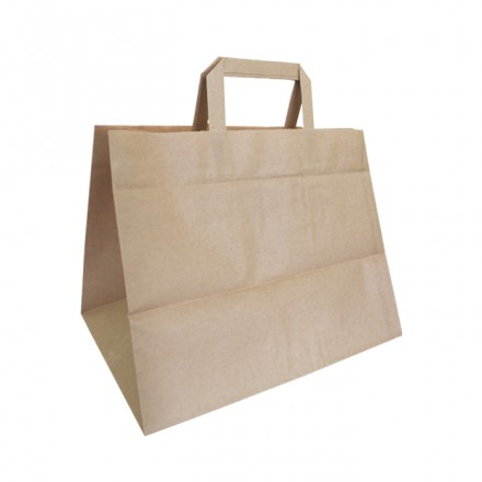 Bolsa papel Kraft para Take Away y Delivery