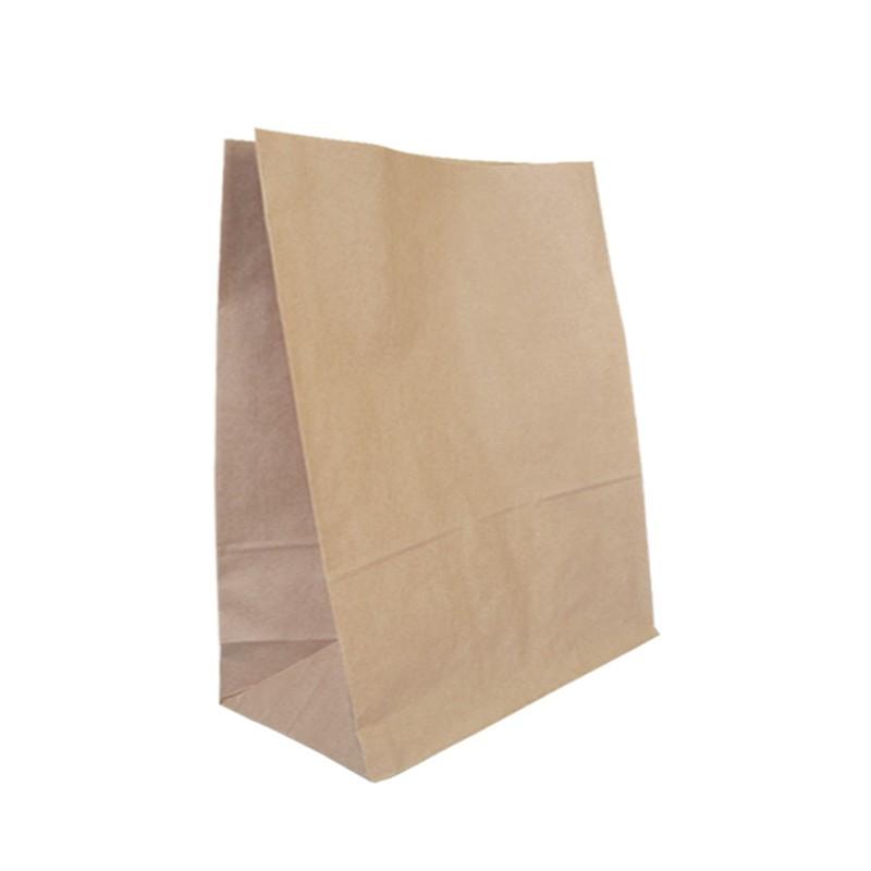 Bolsa de papel SOS sin asas color kraft tipo americana