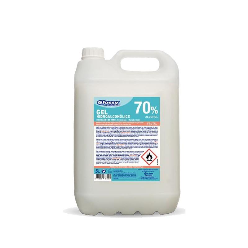 Gel hidroalcohólico Glossy 5 litros